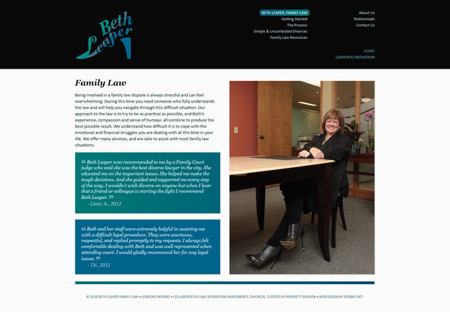 Beth Leaper website screenshot