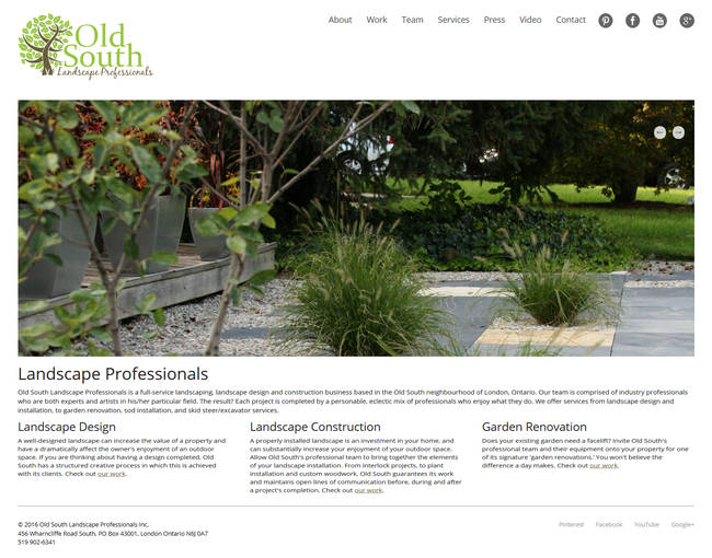 Old South Professionals responsive website displayed on an LCD monitor